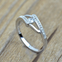 Sale Real 925 Sterling Silver Ring Classic Style Wedding Rings Jewelry Shinning AAA Cubic Zirconia Ring