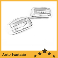 Chrome Mirror Cover w/ LED for Nissan Tiida / Versa / Latio 05 11 Free shipping