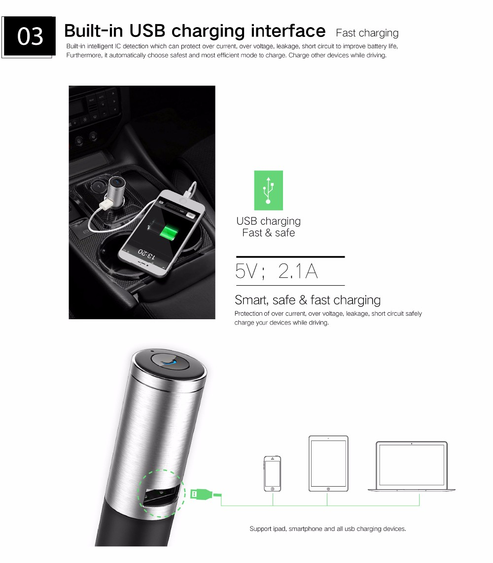 Buy Ovevo Q8 Car Charger Usb Interface Bluetooth Phone Wheelchair Moreover Cell Circuit 6auto Power On Off