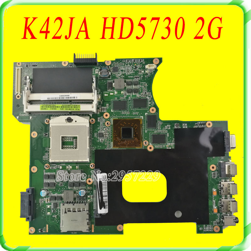 A42JA X42JA K42JA for ASUS Laptop Motherboard K42JA rev2.0 Mainboard HD5730 2G RAM fully tested & working perfect for asus x550lc laptop motherboard with i5 4200u cpu rev 2 0 mainboard fully tested