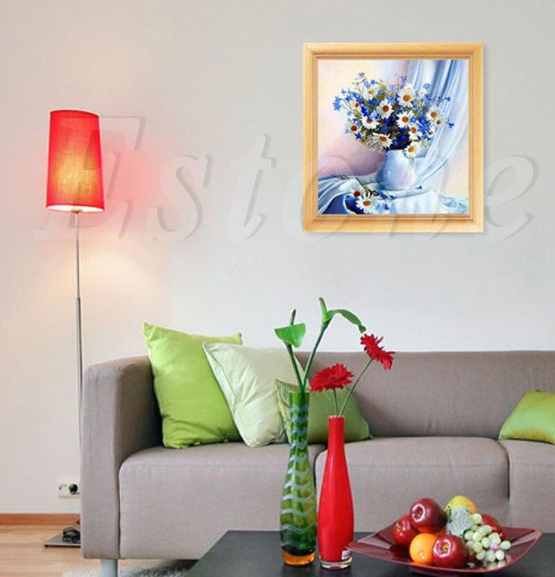 DIY 5D Diamond Painting Flower Cross Stitch Home Decor Craft 35*35cm Elf On The Shelf Broderie Diamant