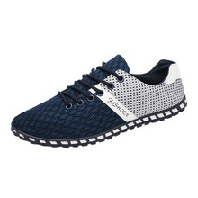 New Style Fashion Men Casual Mesh Comfortable Breathable Sneakers Flat Shoes new comfortable and soft luxury casual shoes Apr 19