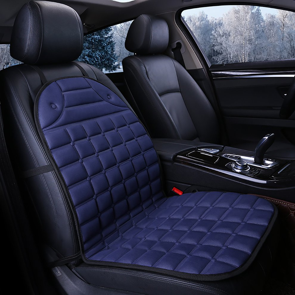 New Zone Tech Thickening Heated Car Seat Heater Chair Cushion Warmer Cover 12V Pad