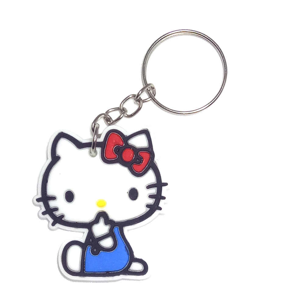 Anime Silicone Chaveiro llaveros Chaveiro Charme Saco anel Chave Titular porte ponto marvel clave llavero chaveiro olá kitty cat