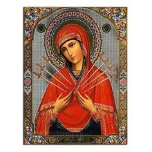 2016 heißer 5D Diy Diamant Malerei Religion Diamant Mosaik Symbol von Saint Maria Intarsien Garn Stoff Hand Handwerk Diamant Kreuz