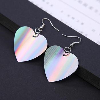 159b9997c Trendy Sequin Big Heart Dangle Earrings for Women Love Jewelry Chic Silver  Color Earing Long Love