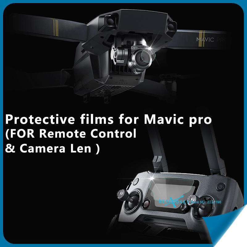 Camera lens + Remote Control HD Protective Lens films Transparent Tempered Glass Protector for DJI Mavic Drone