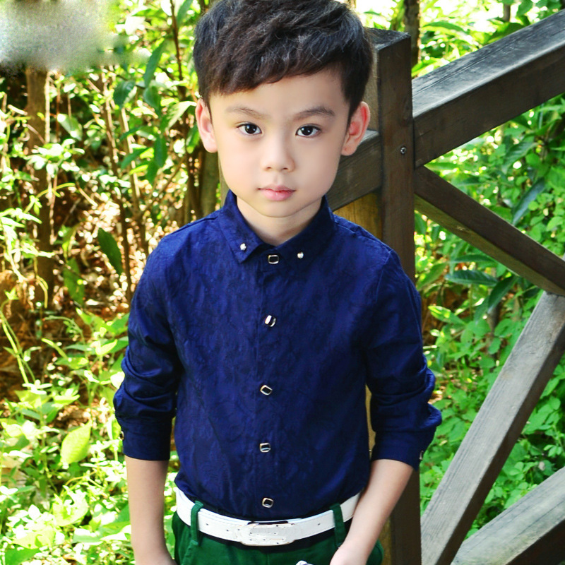 Boys Blouses Dress Shirts boys long sleeve Children Shirt Baby Kids Wedding Clothes Boys Formal Dress Shirts Boys Tops 3
