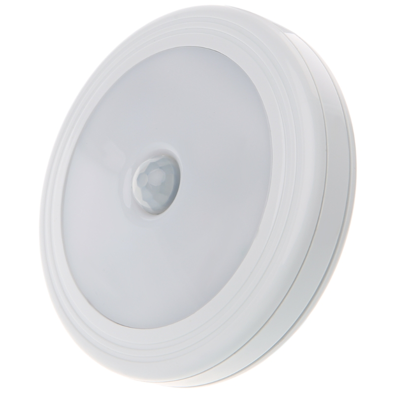 6 LED Wireless Battery Powered PIR Motion Sensor Night Light Lamp Wall Wardrobe L15