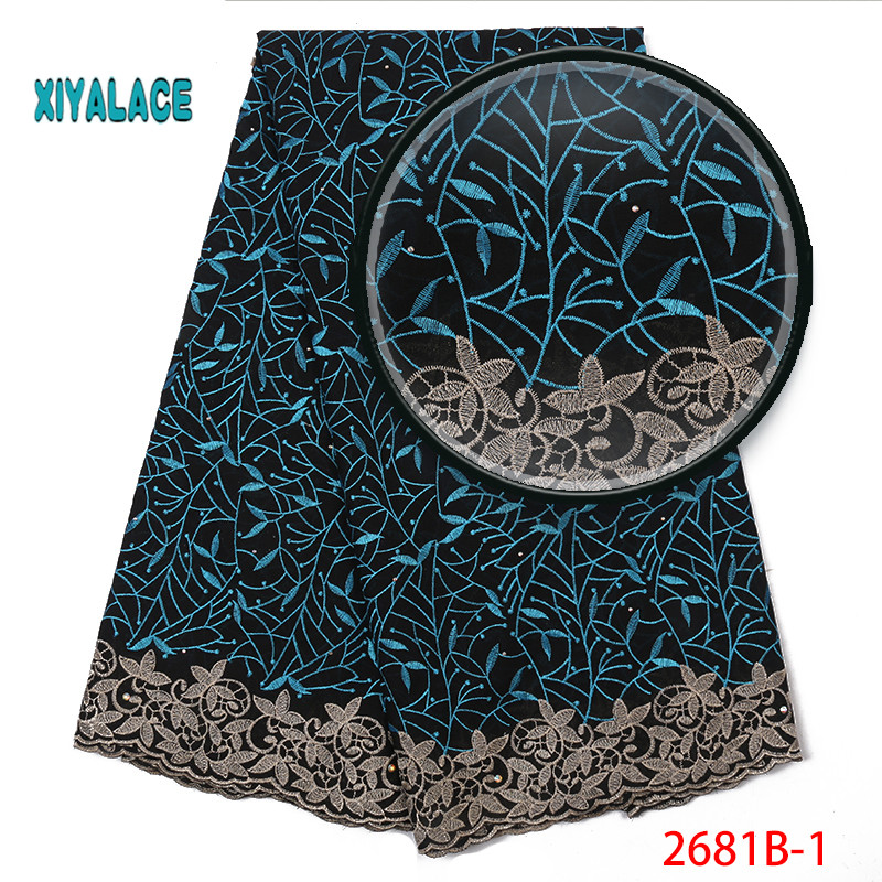 2019 High Quality Lace Swiss Voile Lace Fabric Best Selling African Dresses For Wedding Lace Cotton Lace Party Dress YA2681B-1