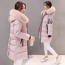 Parka Women Winter Coats Long Cotton Casual Fur Hooded Jackets Ladies Warm Winter Parkas Female Overcoat Women Coat MLD1268(China)