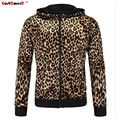 GustOmerD 2016 New Fashion Brand Men's Hoodies Men Jacket Tracksuits High-quality Slim Fit Sexy Leopard Men Sweatshirt M-2XL