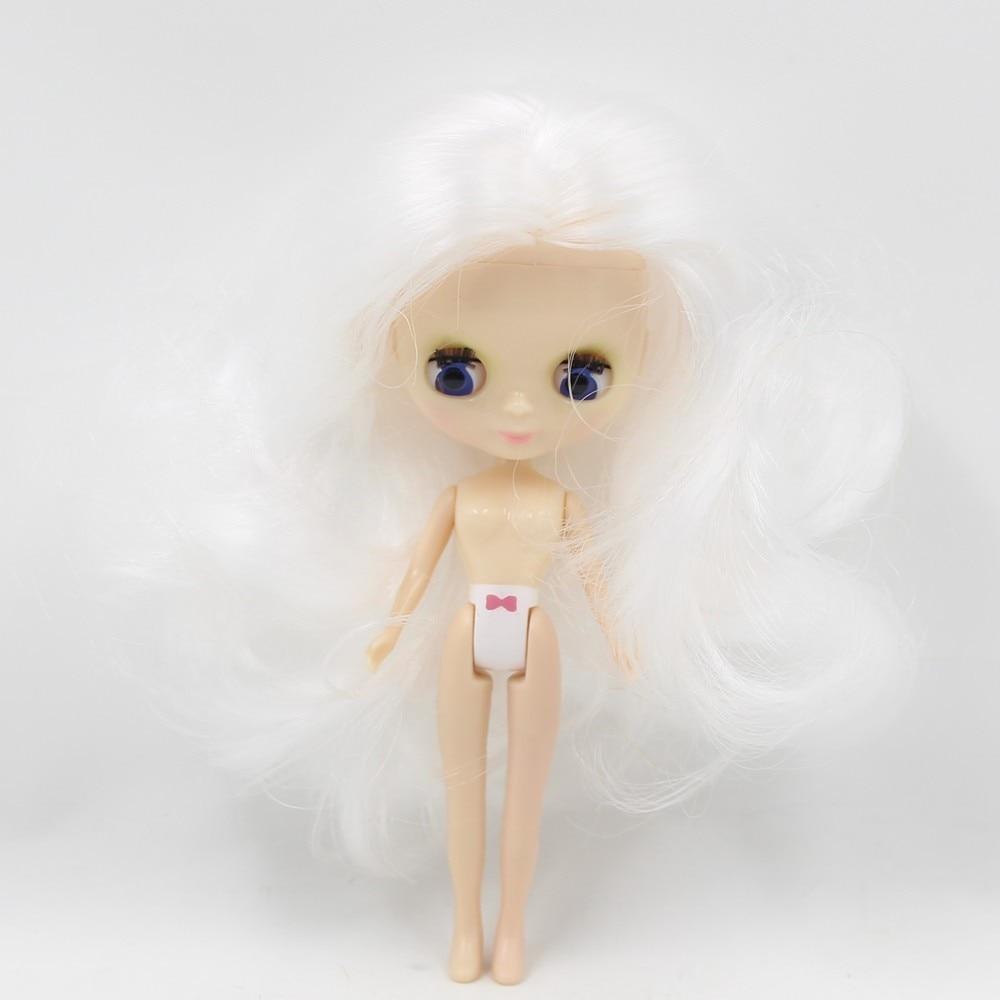 Petite Blythe Doll with White Hair, Sleepy Eyes & Bendable Body 1