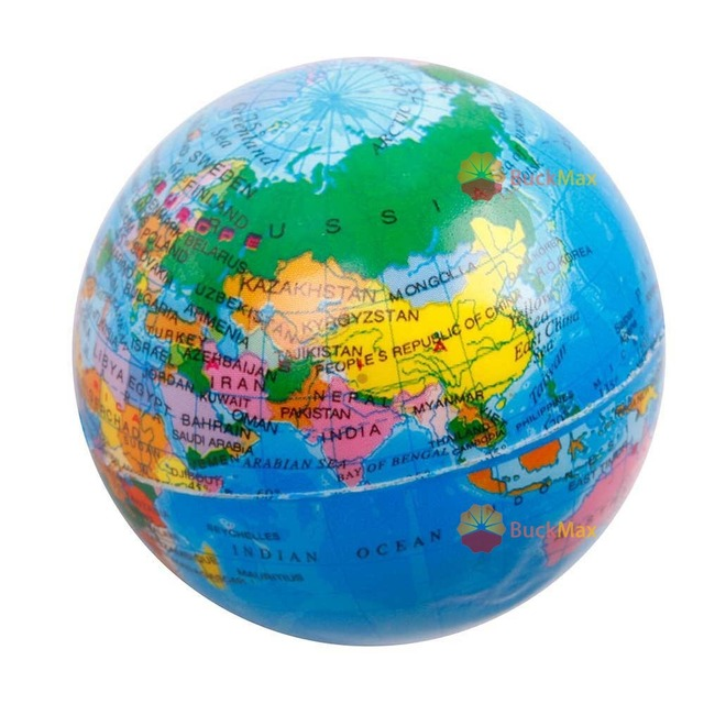 Buckmax super foam world map earth globe stress relief bouncy ball buckmax super foam world map earth globe stress relief bouncy ball atlas geography toy gumiabroncs Images