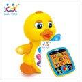 Super Massa Educativos Eletronicos Pato Do Bebê Brinquedos Puzzle Bebe pará Tablet Frete Grátis Huile Brinquedos 808 & 996