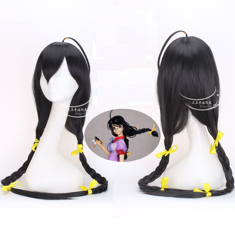 Good quality Bakemonogatari Monstory hair accessories 300g 80cm synthetic hair jewelry for Hanekawa Tsubasa cosplay wigs 3000pcs lot ss510f ss510 5a 100v smaf