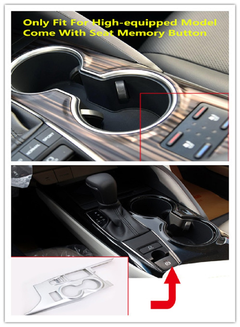 (Only Fit For Left Hand Drive) Central Shift Gear Box Cover Decor Trim ABS Matte 1pcs For Toyota Camry XV70 2018 Car-styling montford car styling abs matte internal gear panel cover trim for mitsubishi outlander 2016 2017 only for left handed driving