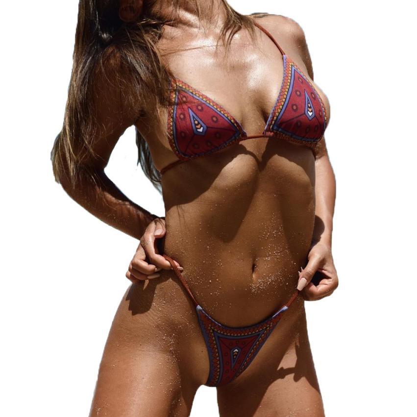 Aliexpresscom Comprar atractivo de las mujeres relleno y estampado sujetador Beach-2059