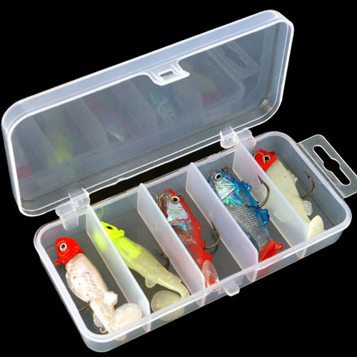 Hot Sale 6pcs Fishing Lure Kit Soft Bait Jig Fish With Case Catch Freshwater Mandarin Sea Bass Artificial Worm