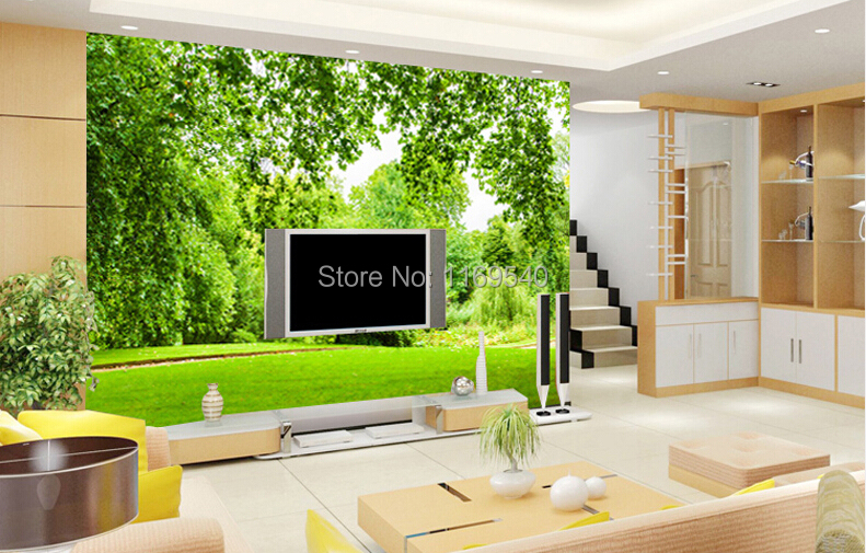 Photo collection 3d outdoor wallpaper for Papel de paisajes para paredes