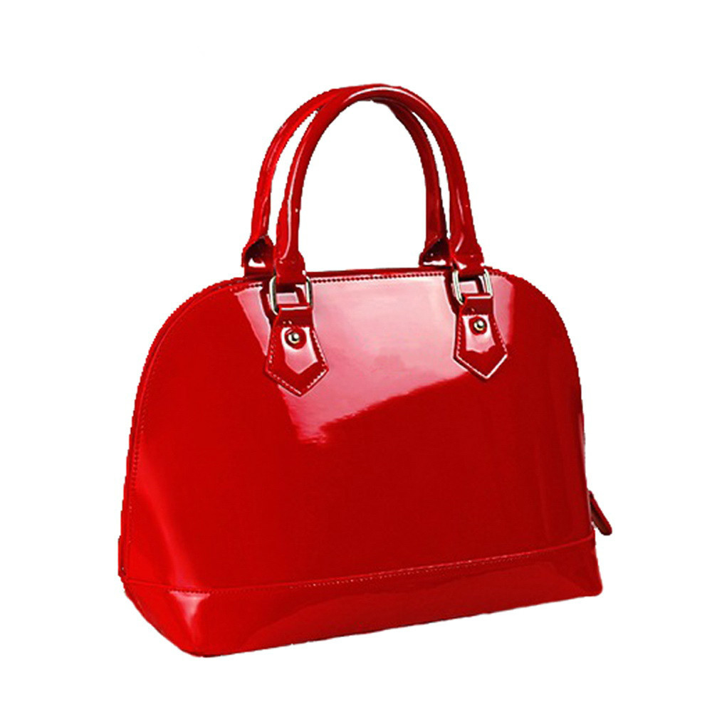 New arrival Fashion brand design star style candy good quality patent leather women bag/PU leather handbag цена