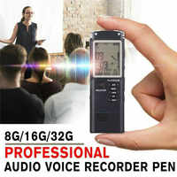 For 8G/16G/32G Voice Activated Mini Digital Sound Audio Voice Recorder Dictaphone Ultra-long Standby Time