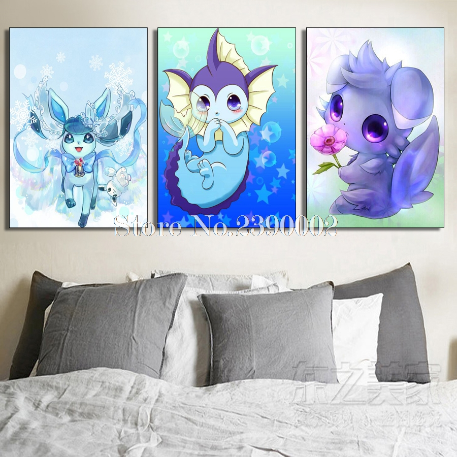 Needlework Drill Shiny Pokemon 5D Diy full Square Diamond Painting Home Decoration Gift ...