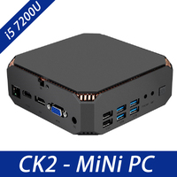 Intel Core i5 Mini PC DDR4 Ram Win10 Desktop PC Kaby Lake Core i5 7200U 2 cores 4 threads 2.5GHZ Linux Windows Gaming PC