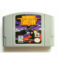 Nintendo n64 game aero fighters assalto cartucho de jogo de vídeo console cartão idioma inglês versão dos eua