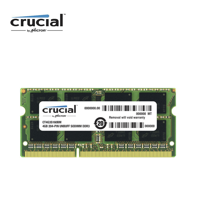 Crucial DDR3 4G 1600MHZ 1.35V CL11 204pin PC3 12800 Laptop Memory RAM SODIMM
