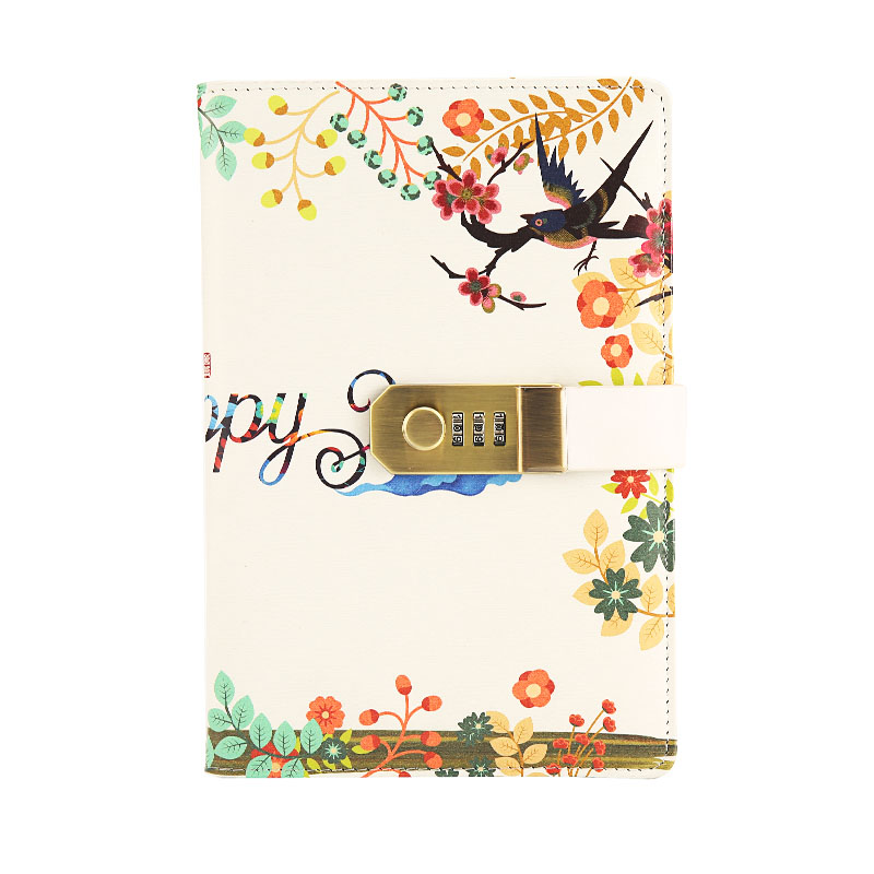Creative Diary Notebook with Lock Kawaii Notebook Journal for School Stationery Personal Password Lock Diary Notebook for Girls|Notebooks| |  - title=