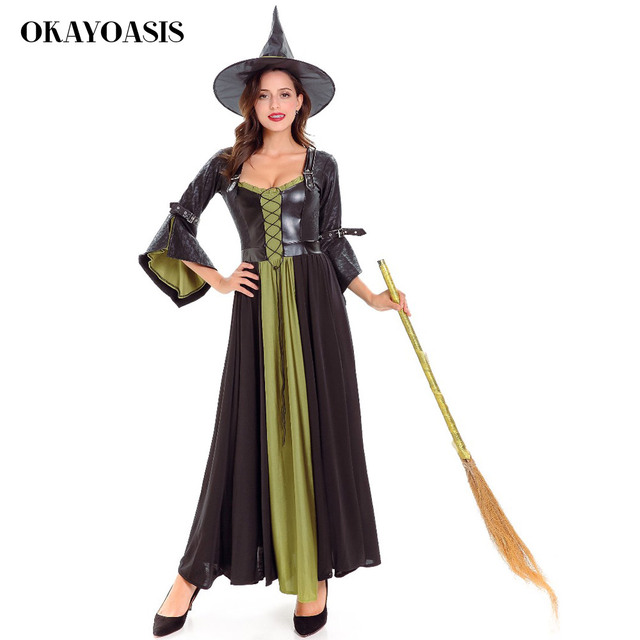 91e93d9b486 Witch costumes for women Adult Womens Magic Moment Costume Girl Black Fly Witch  Costume Sexy Halloween