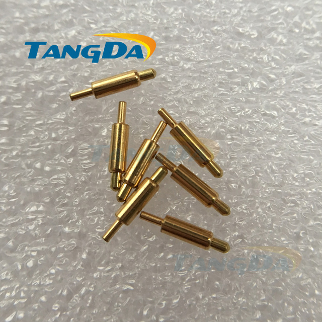 Tangda pogo pin connector 1.5*7.5 mm Current pin Battery pin Test thimble probe Gold Plated (Any size can be custom made) A.