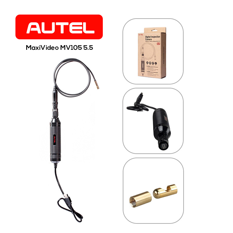 Autel MV105 5.5mm LED Car Inspection Digital Camera Auto Endoscope High Definition Cars Diagnostic Tool Work with MaxiSys Series