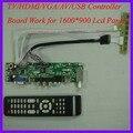 TV/HDMI/VGA/AV/USB/AUDIO LCD trabalho Placa controladora para 1600x900 30Pin Painel lcd