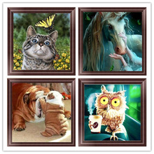 DIY 5D Diamond Mosaic Cartoon Owl Handmade  Cross Stitch Set Embroidery Pattern Rhinestone