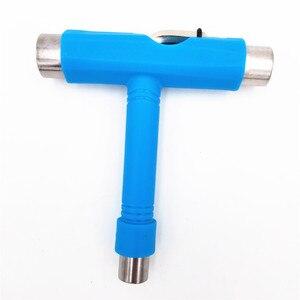 Image 5 - Yüksek Kaliteli Mavi Kaykay Araçları Desenli T Araçları Ile Ucuz fiyat Ile L anahtar ve 3 Yuvaları Sıkma ve montaj Kamyon