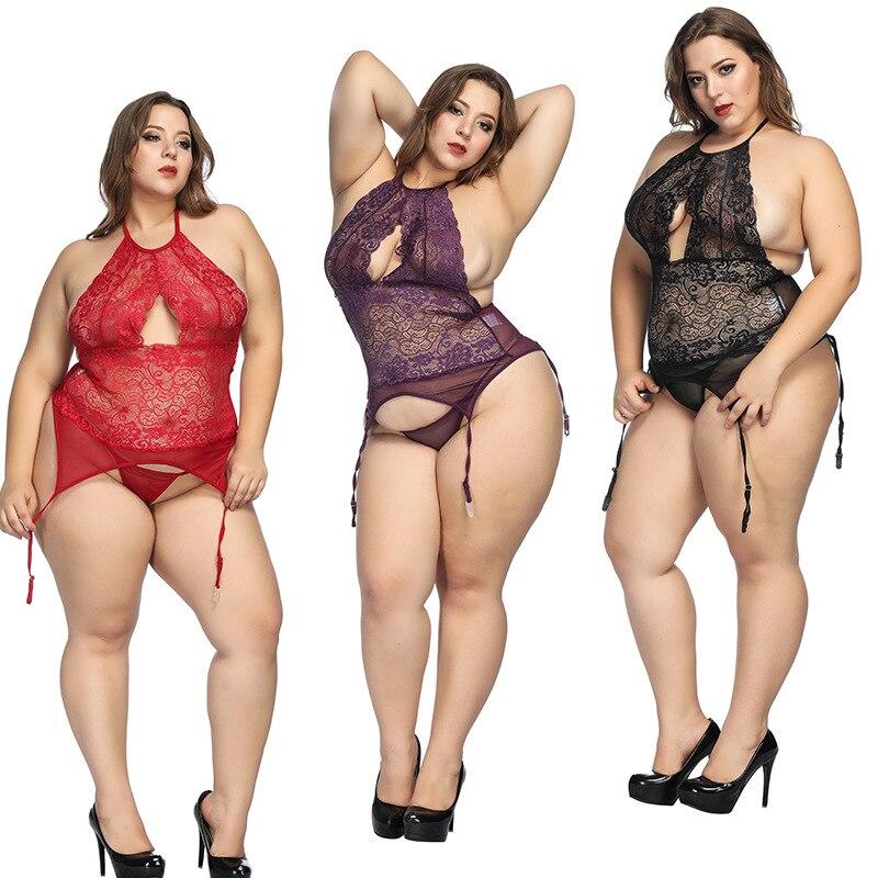 Sexy Sleepwear Nightdress Babydolls Lingerie Sleepwear Lace Clothes Woman HOT SELL Plus Size 6xl Big Lingerie