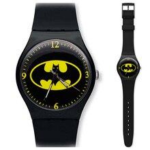 Hot Crianças Assista Crianças Dos Desenhos Animados Batman Legal Relógio de Pulso de borracha Relógios de Mesa para Crianças Das Meninas do Menino