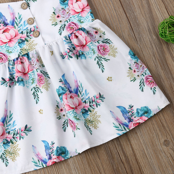 Spring New Fashion Kids Baby Girls Flower Princess Sleeveless Dress Sundress Summer Clothes 4