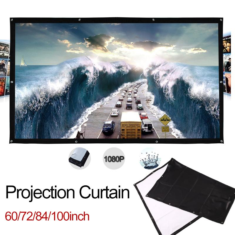 Cewaal Soft Foldable 100 inch 4:3 Ratio Polyester screen for projector Film PVC Home Theater HD Courtyard Projection ScreenCewaal Soft Foldable 100 inch 4:3 Ratio Polyester screen for projector Film PVC Home Theater HD Courtyard Projection Screen