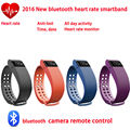 2016New Smart bracelre Wireless Heart Rate Monitor Smart Wristbands Touch Bracelet Bluetooth Passometer for Ios Andriod phone