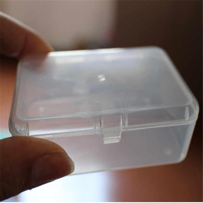 Hot 1Pc Transparan Plastik Penyimpanan Kotak Bening Persegi Serbaguna Display Perhiasan Kotak Penyimpanan Koin Permen Pemegang Organizer