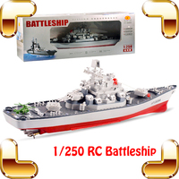 New Arrival Gift Battleship 1/250 RC Boats Radio Control Toys Ship Electric Remote Toy Outdoor River Play Funny Family Present