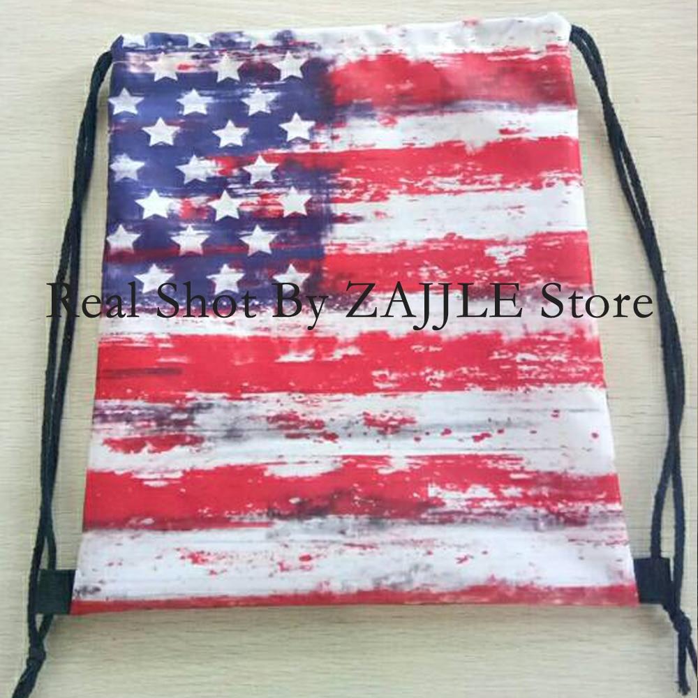 Custom Bag 3D ispis vrpca vreća američka zastava ruksak ispisuje - Ruksaci - Foto 6