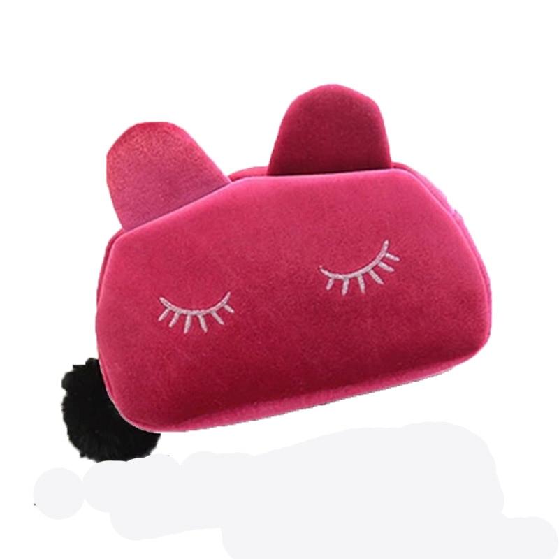 2015 bolsos nueva moda de oro del embrague gatito terciopelo paquete especial ve