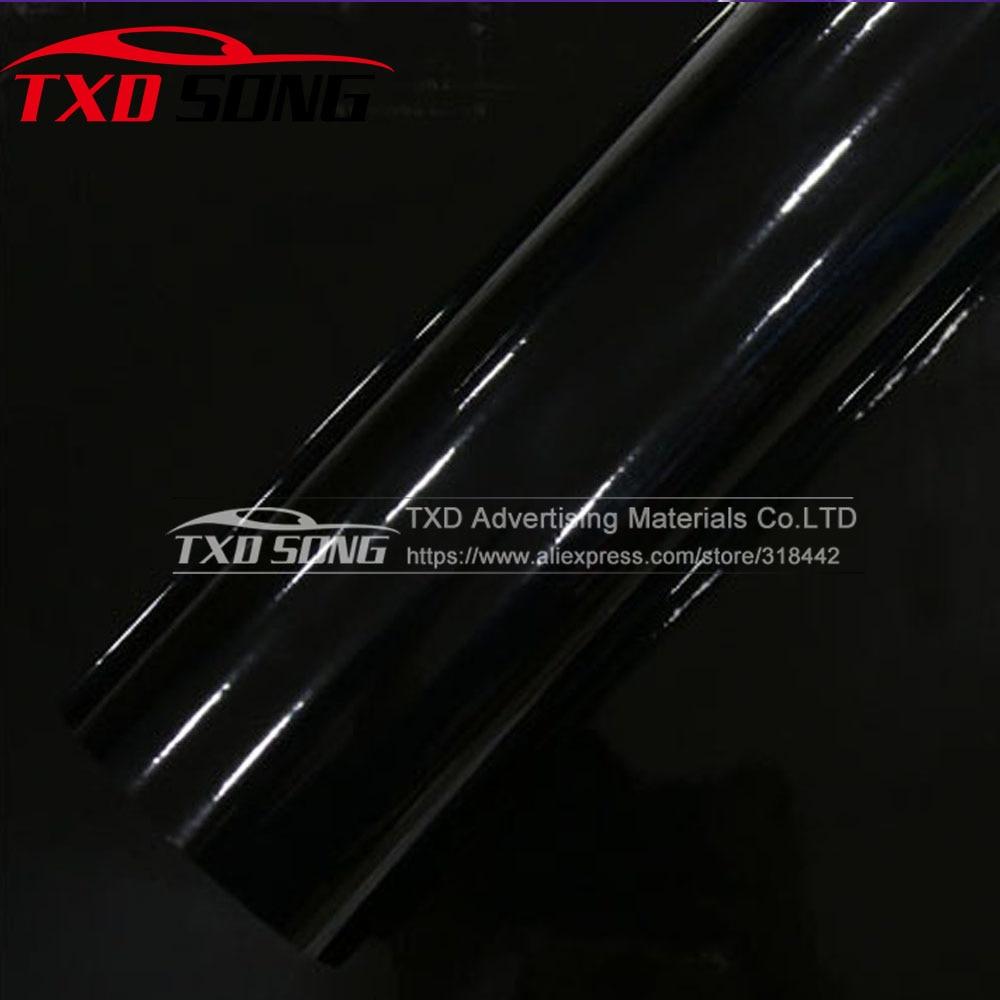 3 Layers Glossy Vinyl Film High Gloss Vinyl Black Glossy Car Body Wrap Film With Air