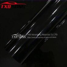 3 слоя глянцевый виниловой пленки высокого глянцевый виниловый черный лоснистое автомобильное волокно тела Обёрточная бумага пленка с стоком 1,52*5 м/10 м/15 м/20 м на выбор