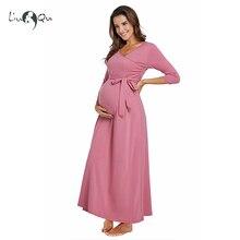 Длинное платье макси для беременных; платье для фотосессии; платье для кормления с поясом; элегантное платье для беременных женщин; платье для кормления грудью