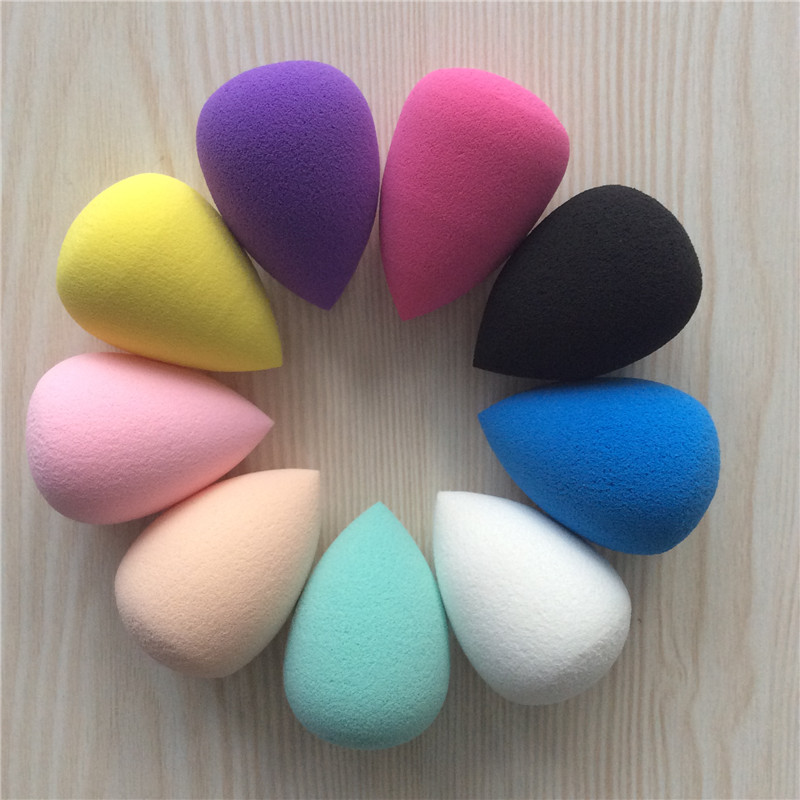 1pcs Smooth Cosmetic Puff Dry Wet Use Makeup Foundation Sponge Beauty Face Care Tools Accessories Water-drop Shape 9 Colors